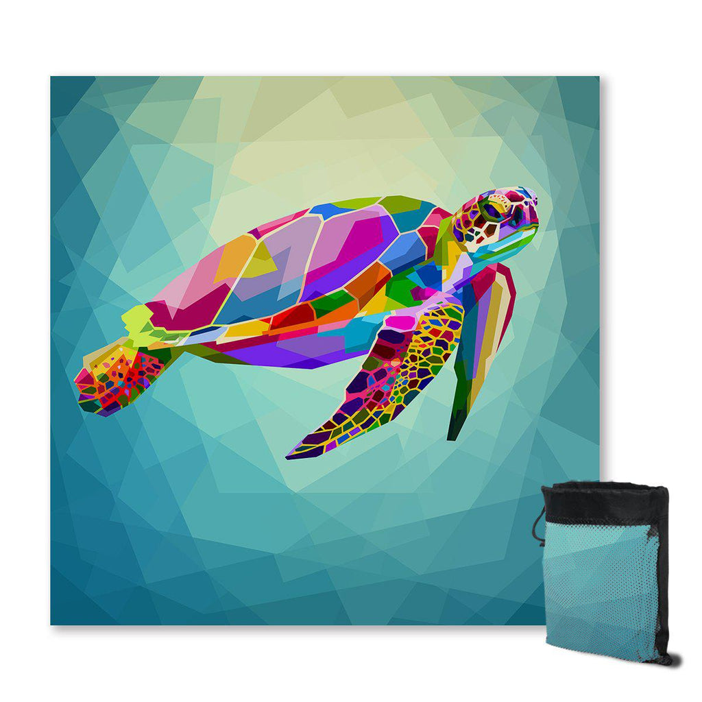 Sand Free Quick Drying Beach Towel Flying Turtle