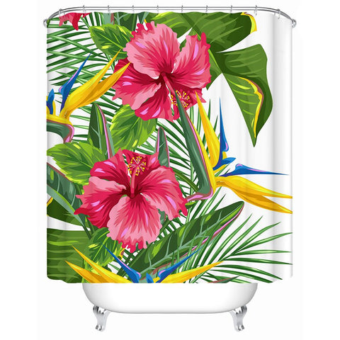 Tropical Weekend Shower Curtain-Shower Curtain-Australian Coastal Passion