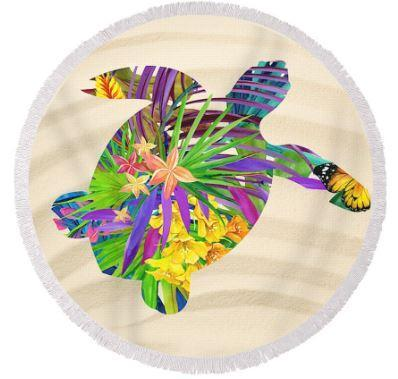 Sandy Bay Round Beach Towel