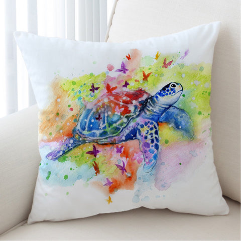 Sea Turtle Splash Cushion Cover-Australian Coastal Passion