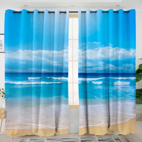 Peace of the Beach Curtains-Australian Coastal Passion