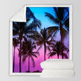 Tropical Skies Soft Sherpa Blanket-Australian Coastal Passion