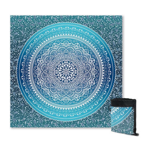 Mandala Blues Sand Free Towel