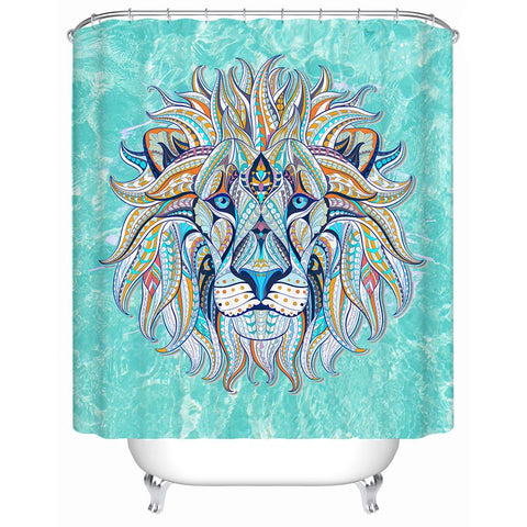 The Lazy Leo Shower Curtain-Shower Curtain-Australian Coastal Passion