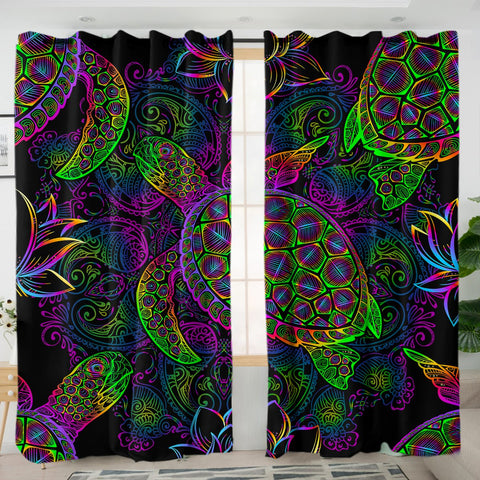 Sea Turtle Mysteries Curtains-Australian Coastal Passion