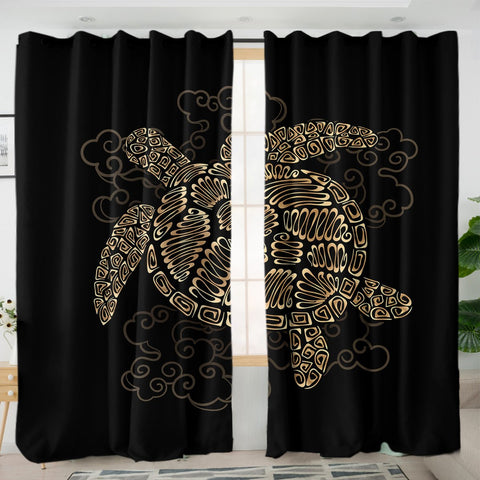 Shelly the Sea Turtle Curtains-Australian Coastal Passion