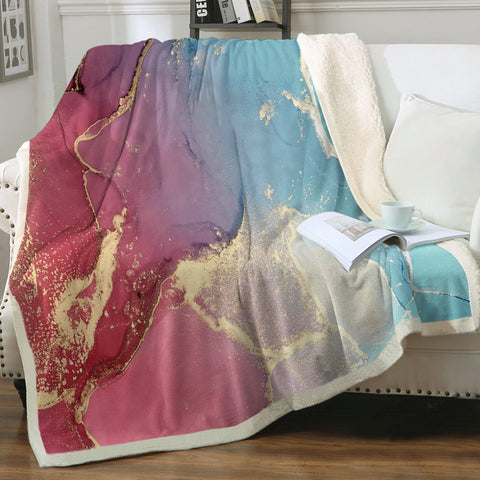 Coastal Blanket-Budelli Beach Soft Sherpa Blanket-Coastal Passion