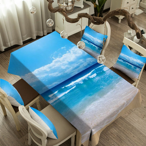 Peace of the Beach Tablecloth-Australian Coastal Passion