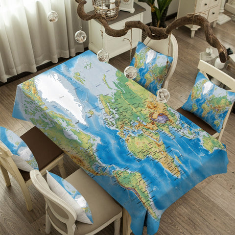 The Seven Seas Tablecloth-Australian Coastal Passion