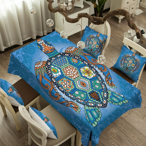 The Turtle Totem Tablecloth-Australian Coastal Passion