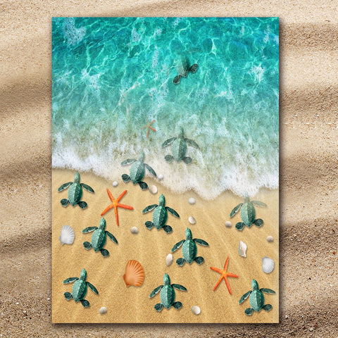 Happy Hatchlings Jumbo Towel-🇦🇺 Australian Coastal Passion