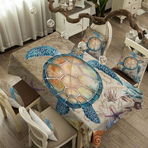 Coastal Tablecloth-The Original Turtle Island Tablecloth-Coastal Passion