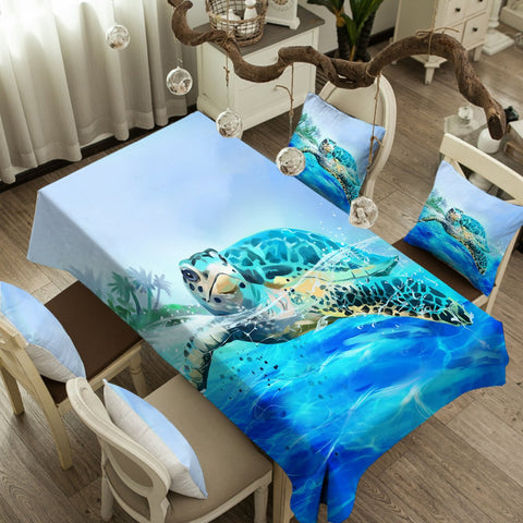 Sea Turtle Life Tablecloth-Australian Coastal Passion