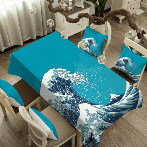 The Great Wave Tablecloth-Australian Coastal Passion