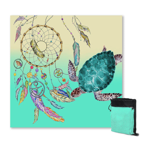 Coastal Sand Free Beach Towel-The Dreamcatcher and Sea Turtle Sand Free Towel-Coastal Passion