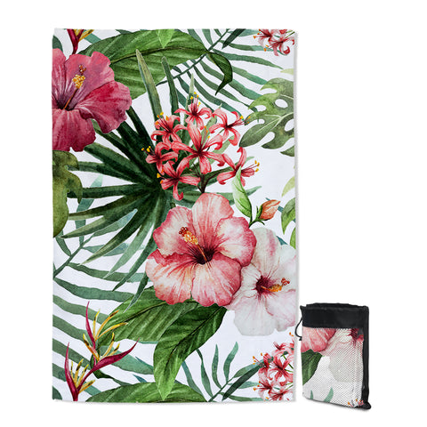 Tropical Hibiscus Sand Free Towel