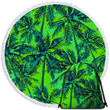 Coastal Round Beach Towel-Cocoon Towel + Backpack-Coastal Passion