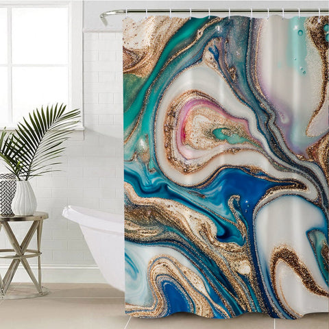 Coastal Shower Curtain-Copacabana Shower Curtain-Coastal Passion