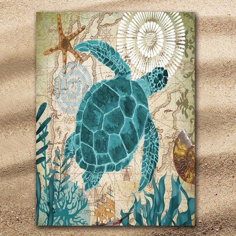Sea Turtle Love Jumbo Towel-🇦🇺 Australian Coastal Passion