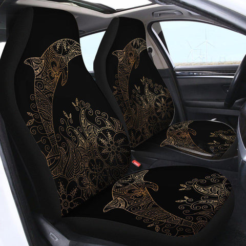 The Golden Dolphin Car Seat Cover