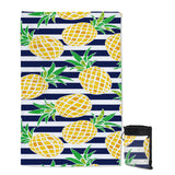 Coastal Sand Free Beach Towel-Nautical Pineapple Sand Free Towel-Coastal Passion
