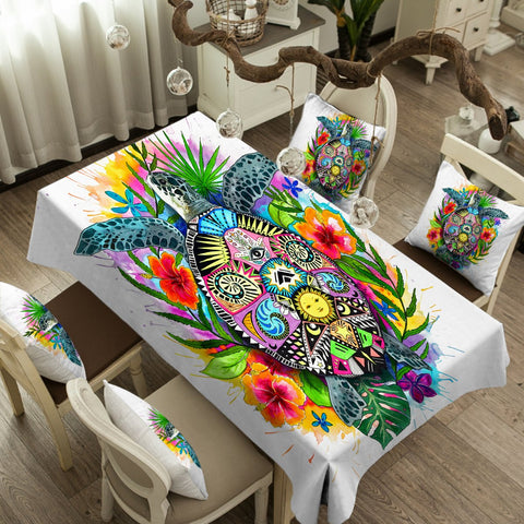 Coastal Tablecloth-The Original Turtle Mystic Tablecloth-Coastal Passion
