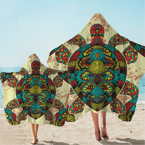 Bohemian Sea Turtle Hooded Towel