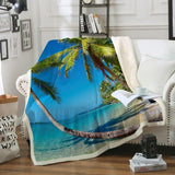 Summer in Saint Thomas Soft Sherpa Blanket-Fleece Sherpa Blanket-Australian Coastal Passion