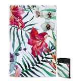 Coastal Sand Free Beach Towel-Tropical Floral Sand Free Towel-Coastal Passion
