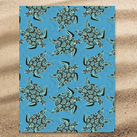 I Sea Turtles Jumbo Towel-🇦🇺 Australian Coastal Passion