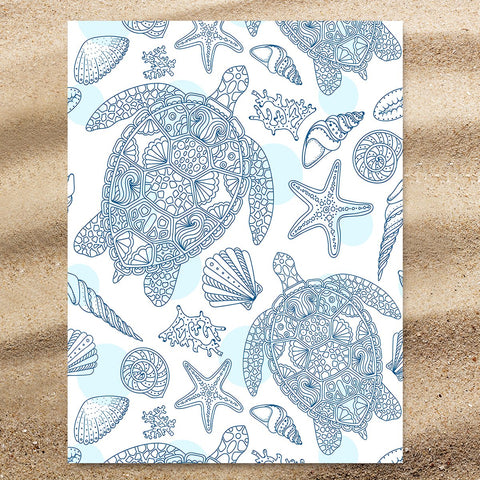 Sea Turtles Way Jumbo Towel-🇦🇺 Australian Coastal Passion