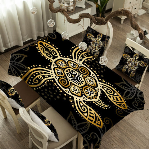 The Golden Turtle Tablecloth-Australian Coastal Passion