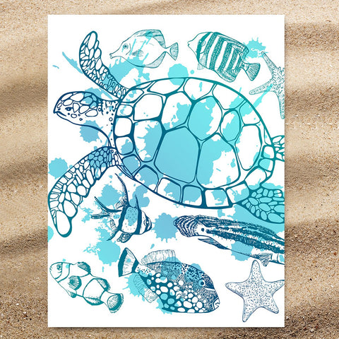 Sea Turtle Society Jumbo Towel-🇦🇺 Australian Coastal Passion