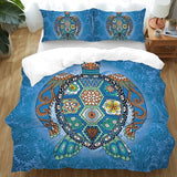 The Turtle Totem Doona Cover Set-Doona Quilt Cover Set-Australian Coastal Passion