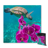 Coastal Sand Free Beach Towel-Ocean Orchids Sand Free Towel-Coastal Passion