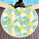 Coastal Round Beach Towel-Sweet Aussie Gold Round Beach Towel-Coastal Passion