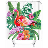 Tropical Flamingo Shower Curtain-Shower Curtain-Australian Coastal Passion