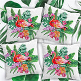 "Pink Flamingo Pillow Cover Set-Pillow Cover-17"" x 17"" - 4 Pillow Covers-Australian Coastal Passion"