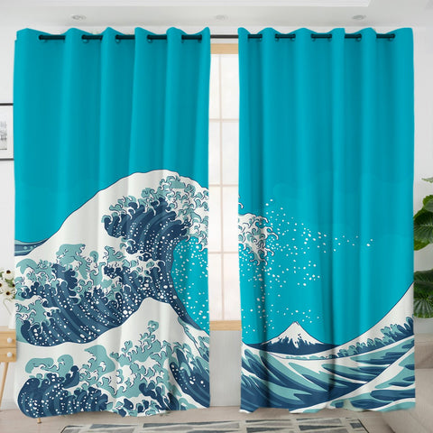 The Great Wave Curtains-Australian Coastal Passion