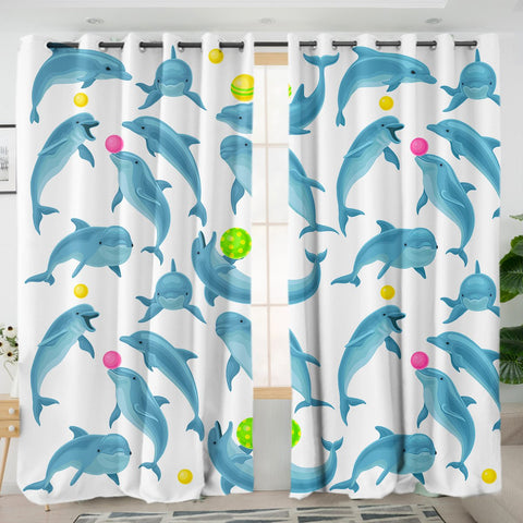 Dolphins Soul Fins Curtains-Australian Coastal Passion