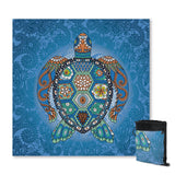 Coastal Sand Free Beach Towel-The Turtle Totem Sand Free Towel-Coastal Passion