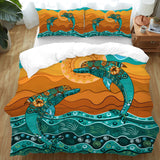 Coastal Doona Quilt Cover Set-Double Dolphin Dreaming Doona Cover Set-Coastal Passion