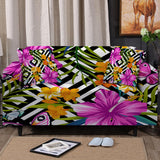 Coastal Sofa Slipcover-The Flower Garden Couch Cover-Coastal Passion