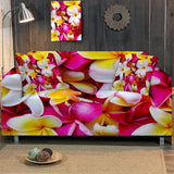 Coastal Sofa Slipcover-Frangipani Couch Cover-Coastal Passion