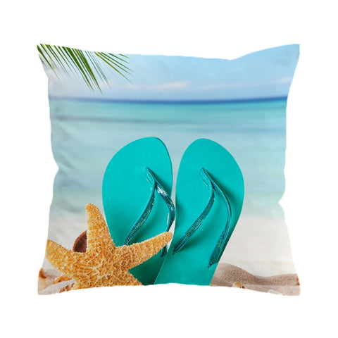 Flip Flops on the Beach Cushion Cover-🇦🇺 Australian Coastal Passion