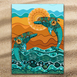 Coastal Beach Towel-Double Dolphin Dancing Jumbo Beach Towel-Coastal Passion