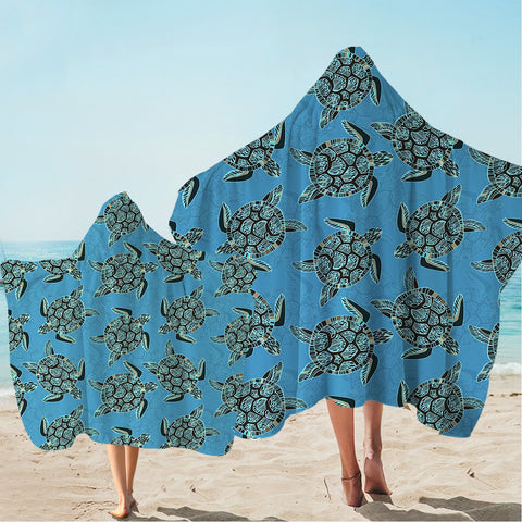 I Sea Turtles Hooded Towel