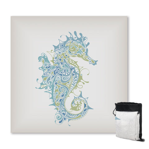 Coastal Sand Free Beach Towel-Sugar Seahorse Sand Free Towel-Coastal Passion