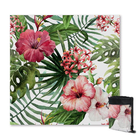 Coastal Sand Free Beach Towel-Tropical Hibiscus Sand Free Towel-Coastal Passion