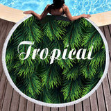 Coastal Round Beach Towel-Tropical Round Beach Towel-Coastal Passion